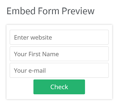 Embed form preview
