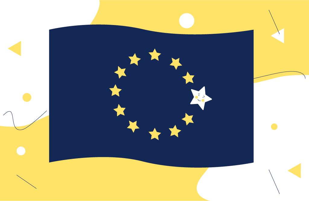 eu flag with highlighted star