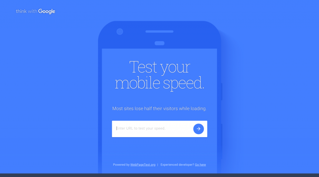 test your mobile speed with google mobile test site