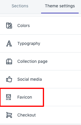 shopify instructions install favicon