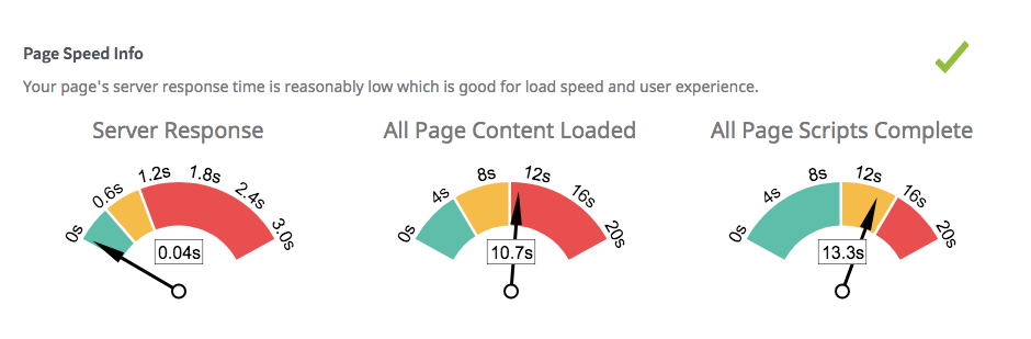 page speed info