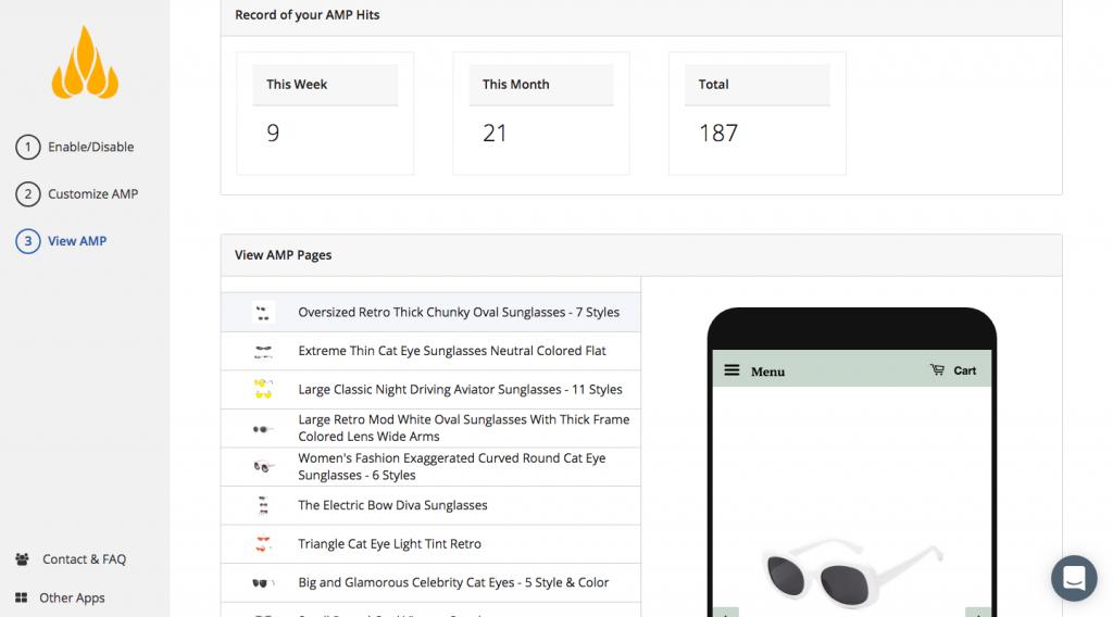 shopify app fireamp screenshot