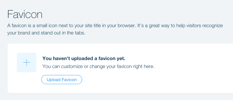 How to upload favicon to wix