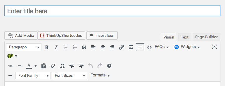 where to enter page title wordpress