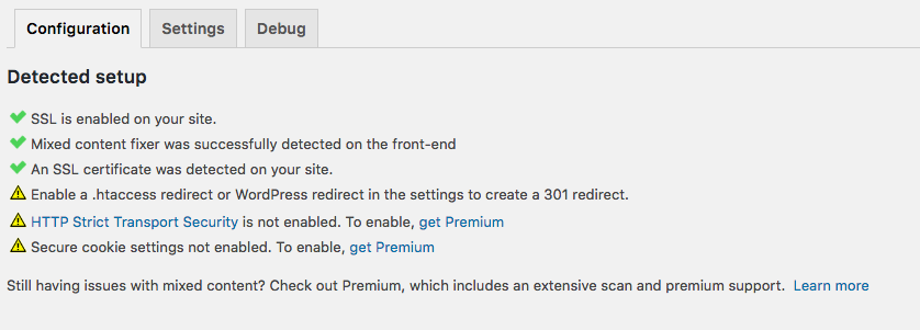 configuration setup SSL