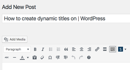 add a separator to title tag