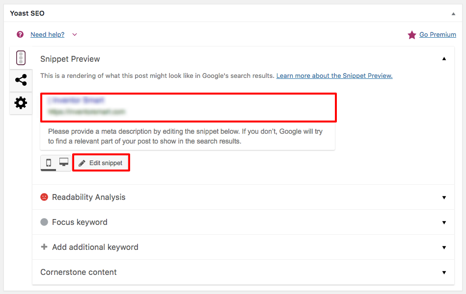 how to edit snippet yoast seo