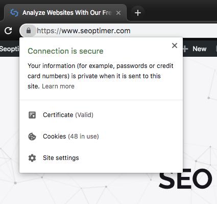SSL certificate SSL enabled