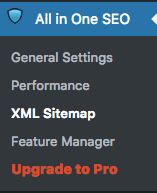 How to add XML sitemap all in one seo