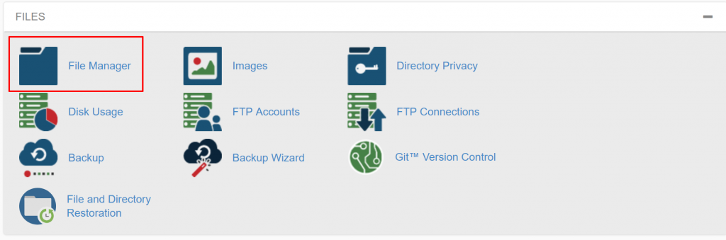 cpanel to file manager to use .htaccess for wildcard redirect