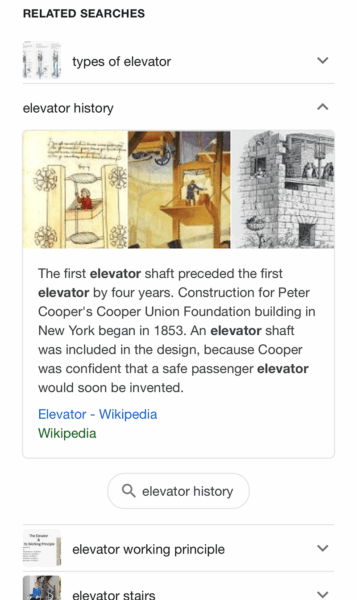 screenshot of a featured snippet on a Google search with a mobile