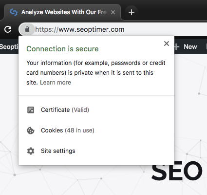how to check that your site is secure with a SSL certificate