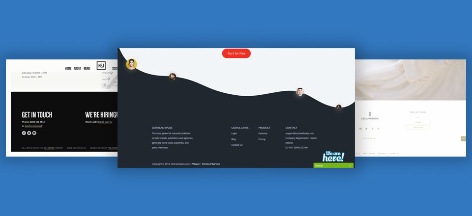 footer examples