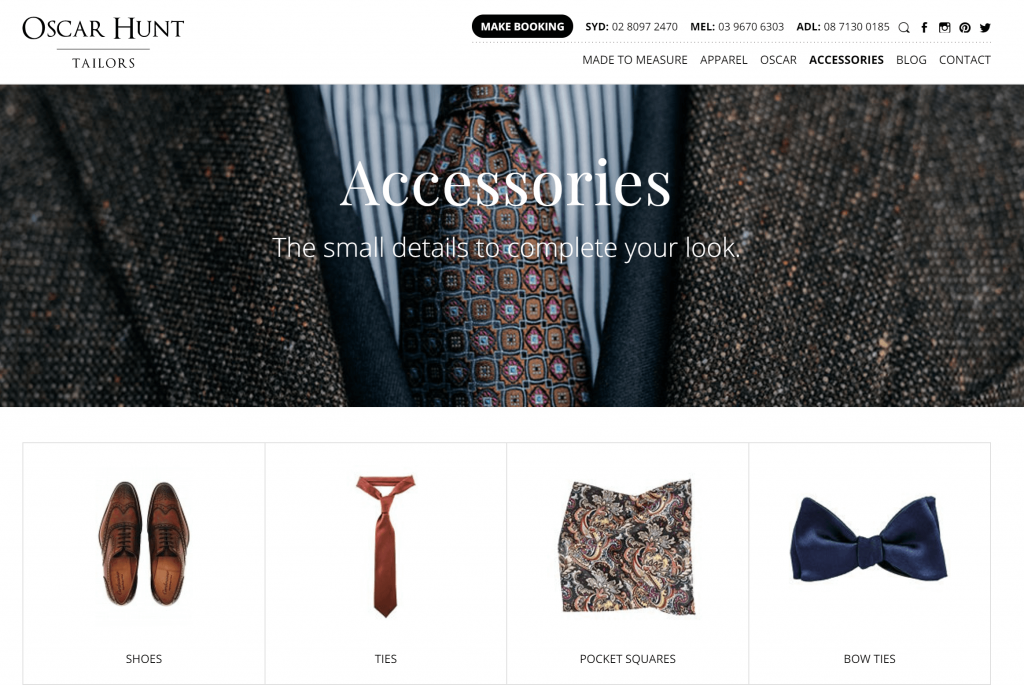 Men s Clothing Accessories Oscar Hunt Tailors