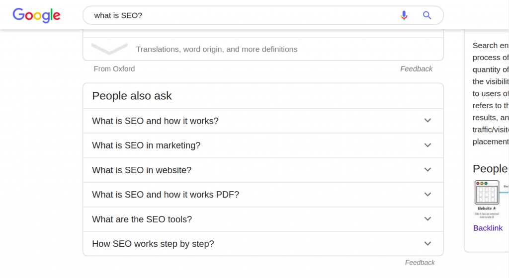 people also ask on serp