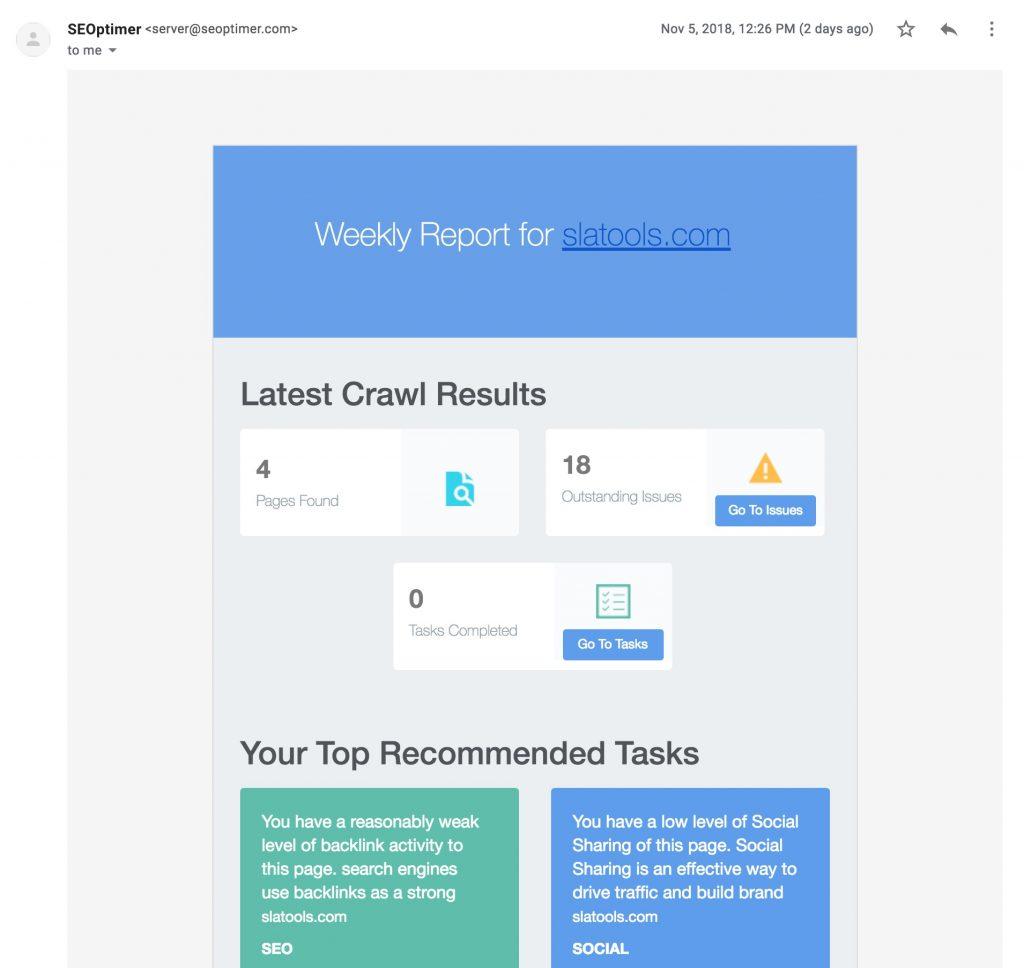 SEOptimer SEO audit DIY tool
