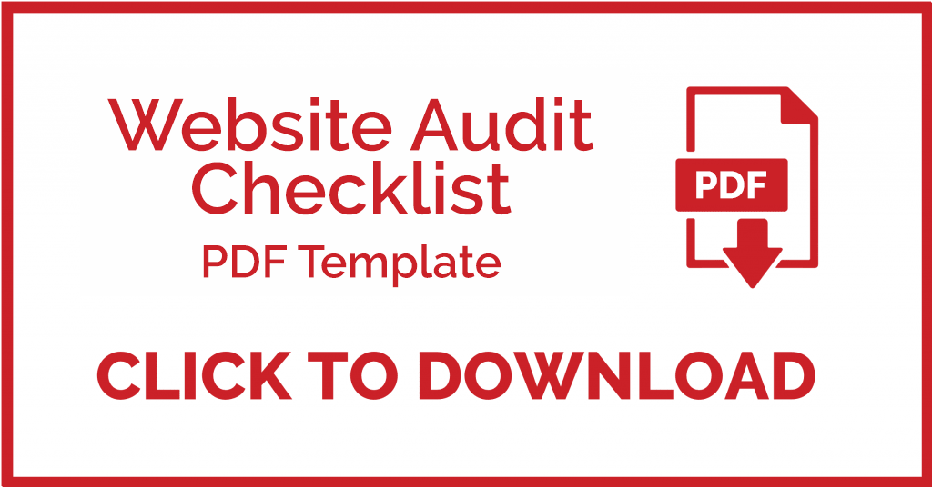 Download the website audit checklist template