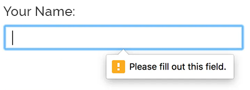 Required input