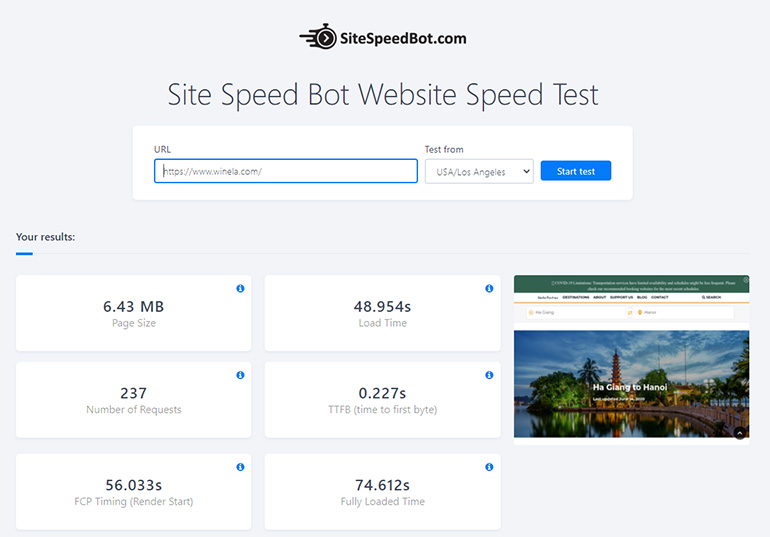 Site Speed Bot