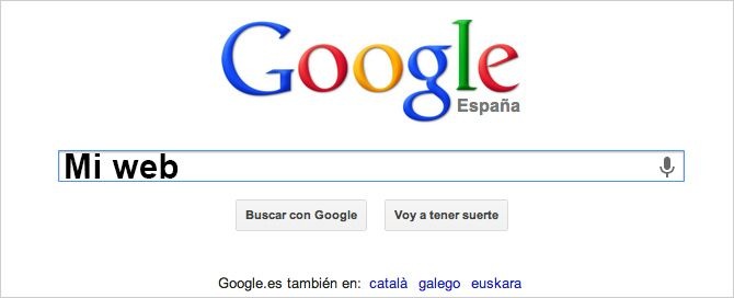 ...¡ah! y quiero que mi web esté la primera en Google