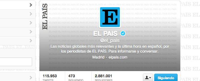 El País y los perfiles falsos de Twitter