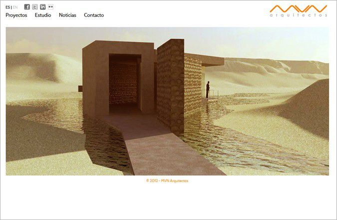 Página inicio web MVN