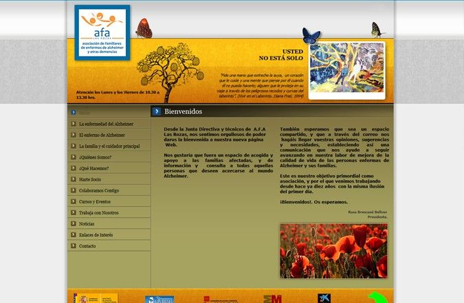 Página interior web AFA