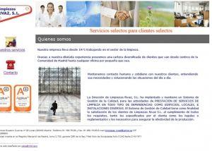 Página interior web Limpiezas Rivaz