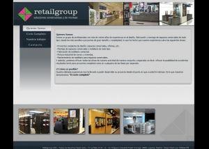 Página interior web Retail group