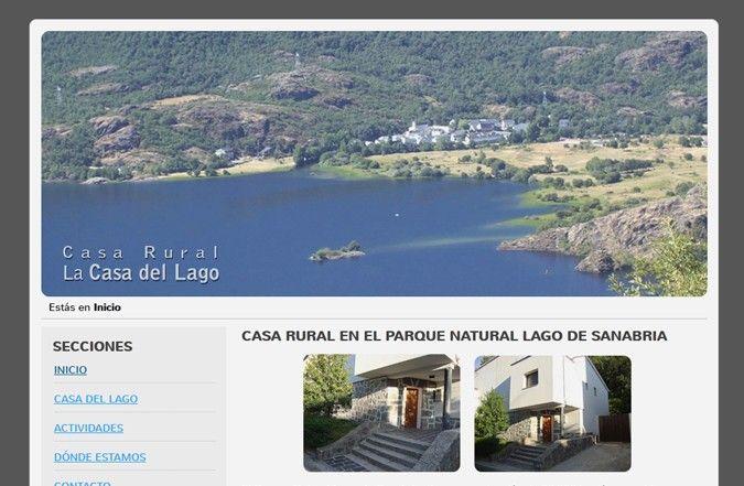 Segunda página interior web Casa Rural