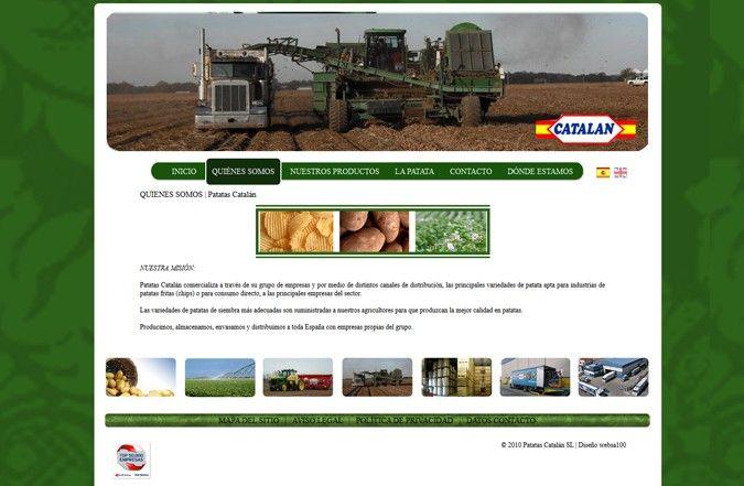 Página interior web Patatas Catalán