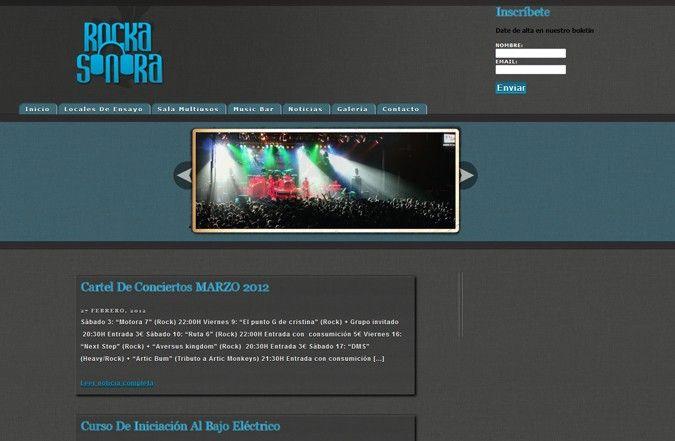 Página interior web Rocka Sonora