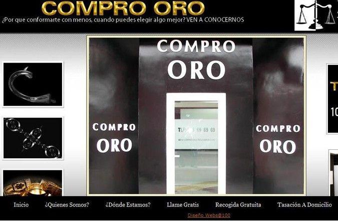 Página interior web Compro Oro