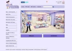 Página interior tienda online Anena