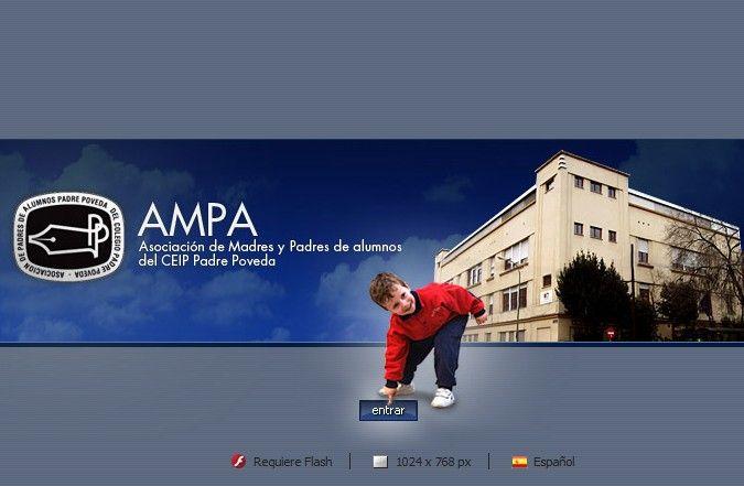 Página inicio web Ampa