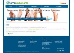 Segunda página interior web Lema Traductores