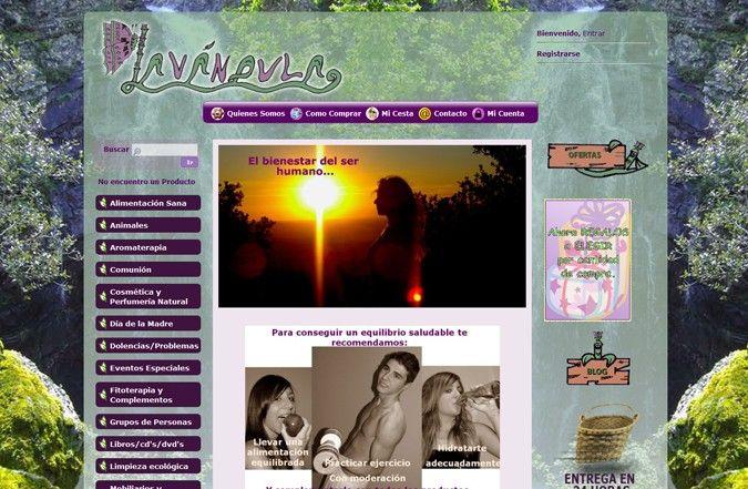 Página interior tienda online Lavándula