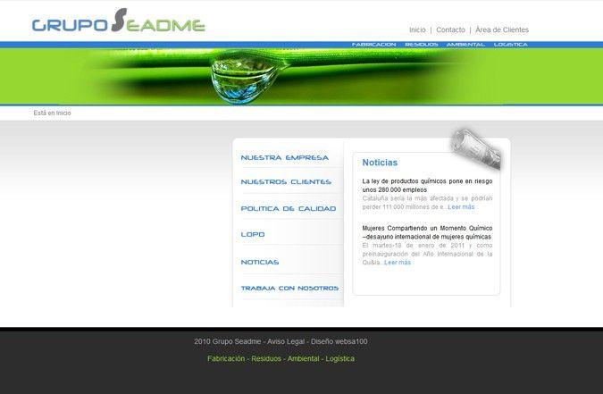 Página interior web Grupo Seadme