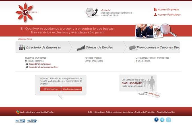 Página interior web Openlynk