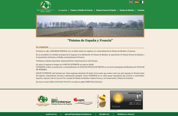 Página interior web Agromar