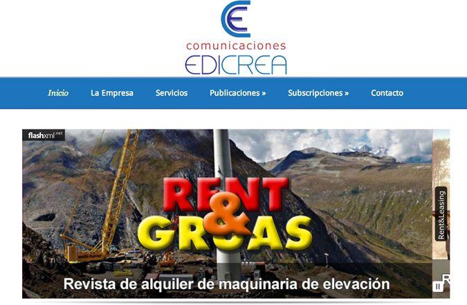Página inicio web Comunicaciones Edicrea
