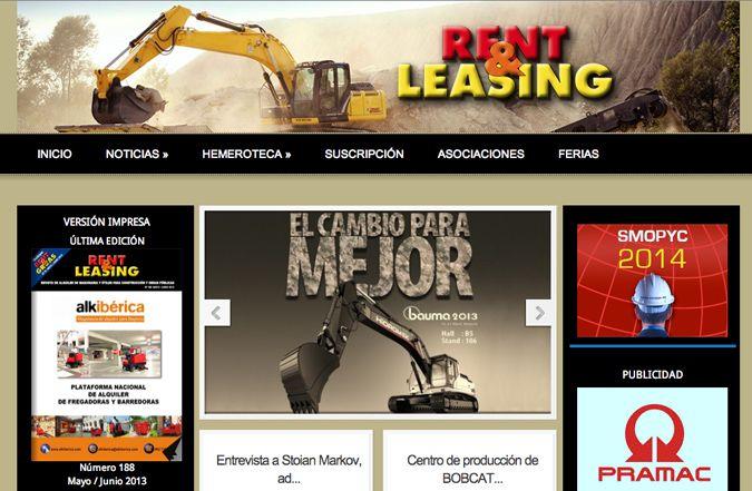 Página inicio web Rent&Leasing