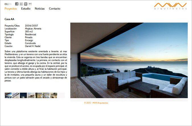Página interior web MVN