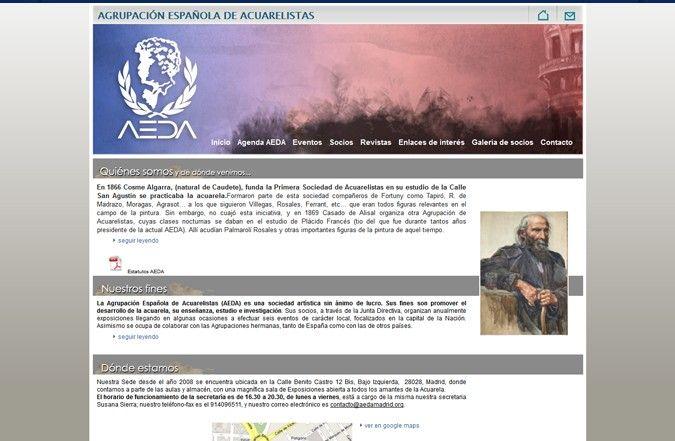 Tercera página interior web AEDA