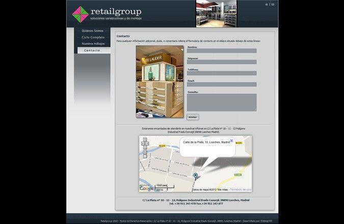 Segunda página interior web Retail group
