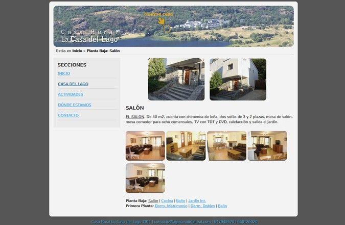 Tercera página interior web Casa Rural