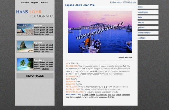Página interior web Hans Löhr