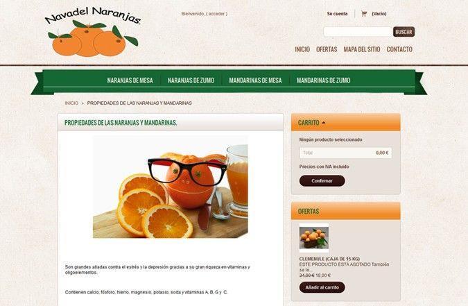 Segunda página interior tienda online Navadel Naranjas