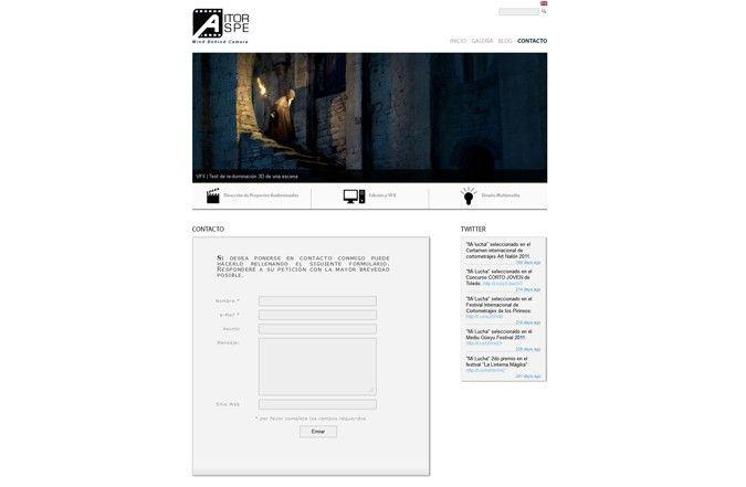 Página interior web Aitor Aspe