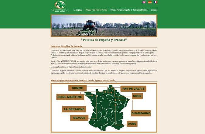 Segunda página interior web Agromar